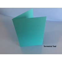 Size B (A6) Cards in Astrobrights Terrestrial Teal 10 Pack