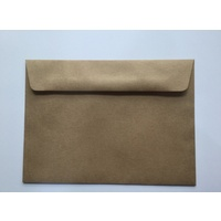 Card 130 x 180mm KRAFT Lick & Stick Envelope x 10