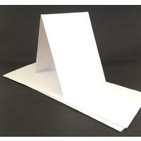 Tent Fold White 300gsm Card Single Fold SIZE B (10 Pack)