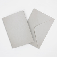 Pearlised Silver Cards & Envelopes Size 105mmx150mm Qty 4