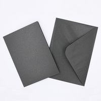 Pearlised Black Cards & Envelopes Size 105mmx150mm Qty 4