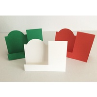 Christmas Specialty Shaped Cards x 10 with Envelopes