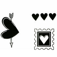 Clear Stamp Three Hearts Mini