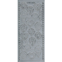 Balloons Decorated Sticker SILVER
