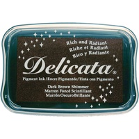 Delicata Non-Tarnishing Dark Brown Shimmer Full Size Ink Pad