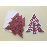 Laser Cut Decorative Christmas Tree & Shadow Layer