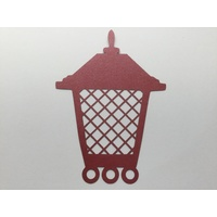 Laser Cut Red Christmas Lantern & Shadow Layer