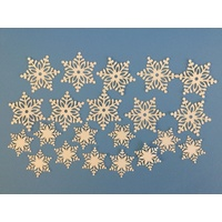 Ivory Fancy Laser Cut Snowflakes x 20