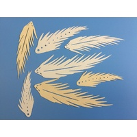 Ivory Laser cut Feather x 10
