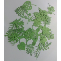 Laser Cut Green Assorted Leaves x 30