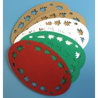 Coloured Oval Holly Lucky Dip Die Cut Shapes