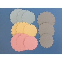 Die Cut Scalloped Circles Pastel x 12