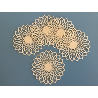 Doily Six Ivory Fancy Laser Cut