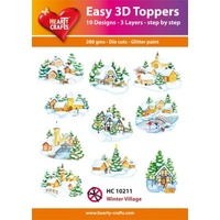 Hearty Crafts Winter Village Die Cut Paper Tole