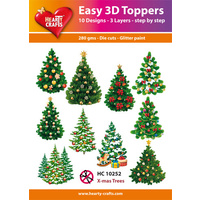 Hearty Crafts Christmas Trees Die Cut Paper Tole