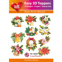 Hearty Crafts Christmas Flowers Die Cut Paper Tole