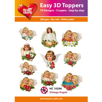 Hearty Crafts Christmas Vintage Angels Die Cut Paper Tole