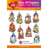 Hearty Crafts Christmas Lanterns and Animals Die Cut Paper Tole