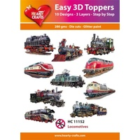 Hearty Crafts Locomotives Die Cut Paper Tole
