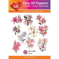 Hearty Crafts Lilies Die Cut Paper Tole