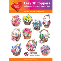Hearty Crafts Spring Baskets Die Cut Paper Tole