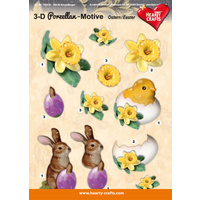 Porcelain Easter Glossy 3D Paper Tole Sheet