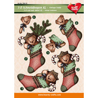XL Christmas Stocking 3D Cut Out Sheet