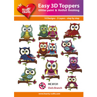 Hearty Crafts Owls  Branch Die Cut Paper Tole