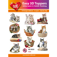 Hearty Crafts Cats and Kittens Die Cut Paper Tole