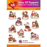 Hearty Crafts Christmas Snowmen Die Cut Paper Tole