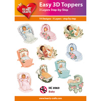 Hearty Crafts Baby Prams & Cradles Die Cut Paper Tole