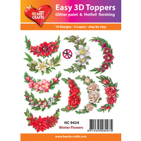 Hearty Crafts Winter Flowers Die Cut Paper Tole
