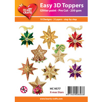 Hearty Crafts Christmas Stars Die Cut Paper Tole