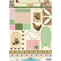 Chicken & Flowers Tags, Envelopes & Borders