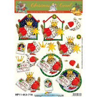 Robins & Christmas Greetings Paper Tole Sheet