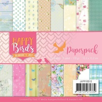 "Happy Birds 6.5""x6.5"" Paper Pad 23 pages"