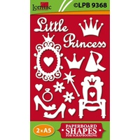 Little Princess Paperboard Cut Out Shapes