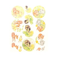 Yvonne Creations Ducklings, Deer & Rabbits A4 Die Cut Paper Tole Decoupage
