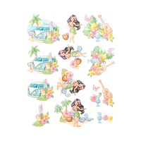 Yvonne Creations Tropical Holiday A4 Die Cut Paper Tole Decoupage