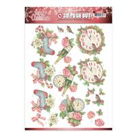 Lovely Christmas Time Janines Art Decoupage Paper Tole Die Cut A4 sheet
