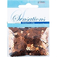 Sequins 5mm Flat Copper
