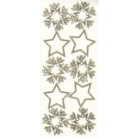 Snowflakes & Stars Transparent GOLD