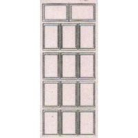 Stitched Rectangles Transparent Glitter Sticker SILVER