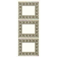 Fancy Frame Transparent Glitter Sticker GOLD