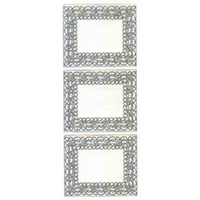 Fancy Frame Transparent Glitter Sticker SILVER