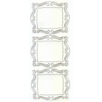 Shaped Frame Transparent Sticker GOLD