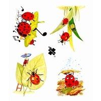 Lady Bug Decoupage & Card Toppers