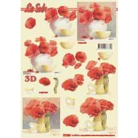Red Poppy Paper Tole Sheet
