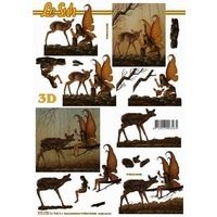 Deer & Fairy Paper Tole Sheet
