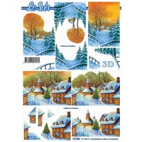Winter Snow Scenes Paper Tole